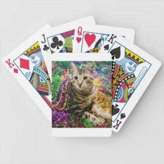 Mardi Gras Cat Bicycle Playing Cards