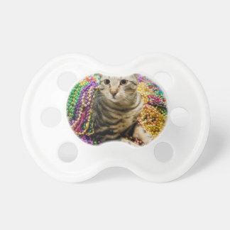 Mardi Gras Cat Pacifier