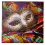 Mardi Gras - Celebrating Mardi Gras Ceramic Tile