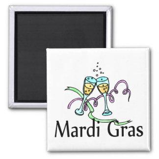 Mardi Gras Champagne Fridge Magnet
