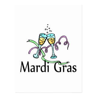 Mardi Gras Champagne Postcard