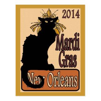 Mardi Gras Chat Noir Post Cards
