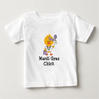 Mardi Gras Chick Baby T shirt
