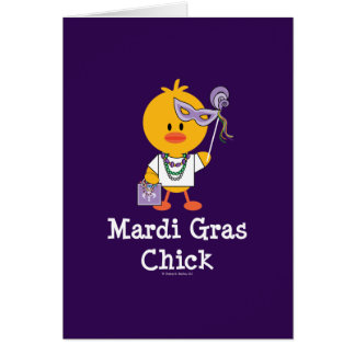 Mardi Gras Chick Greeting Card