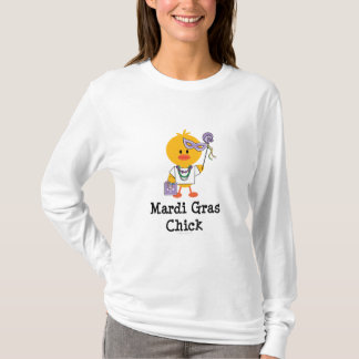 Mardi Gras Chick Long Sleeve T shirt