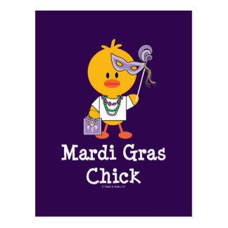 Mardi Gras Chick Postcard