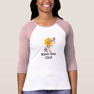 Mardi Gras Chick Raglan T-shirt