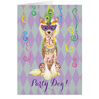 Mardi Gras Chinese Crested Card