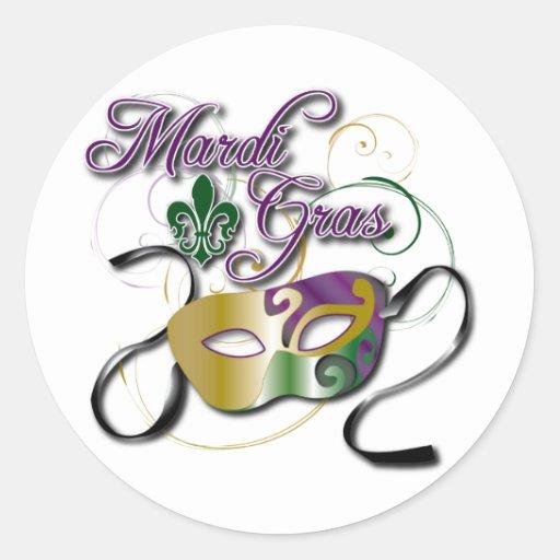 Mardi Gras Classic Round Sticker