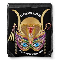 Mardi Gras Cleopatra-VII Read About Design Below Drawstring Backpack