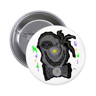 MaRdI gRaS cLoWn 2 Inch Round Button