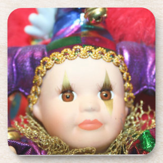 Mardi Gras clown Coaster