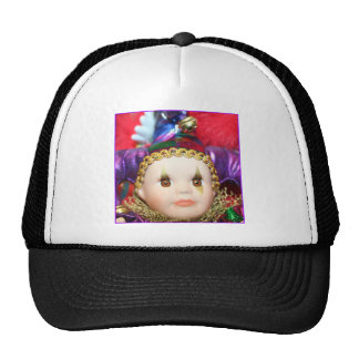 Mardi Gras clown doll Trucker Hats