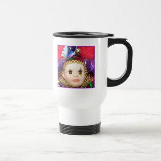 Mardi Gras Clown doll mug