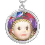 Mardi Gras Clown Doll Necklace