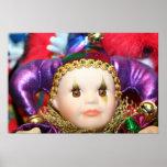 Mardi Gras clown doll poster