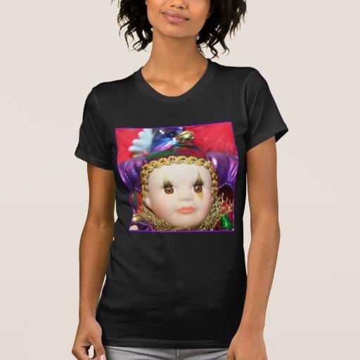 Mardi Gras clown doll T-Shirt
