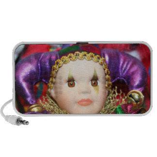 Mardi Gras clown iPod Speakers