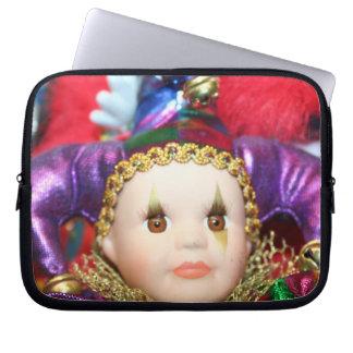 Mardi Gras clown Laptop Sleeves
