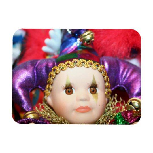 Mardi Gras clown Magnet