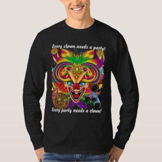 Mardi Gras Clown MEN DARK all styles View Hints T Shirt
