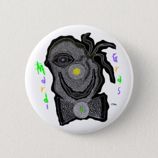 MaRdI gRaS cLoWn Pinback Button