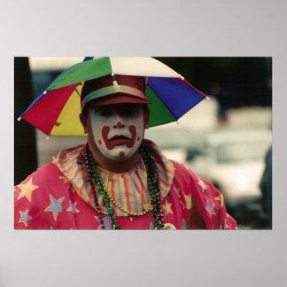 Mardi Gras Clown Poster