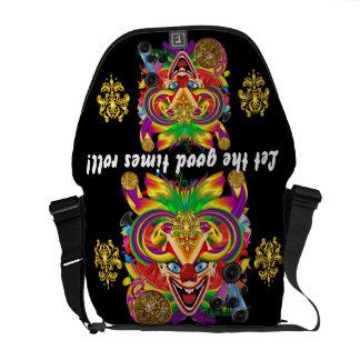 Mardi Gras Clown View notes please Courier Bag