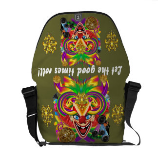 Mardi Gras Clown View notes please Courier Bags