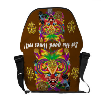 Mardi Gras Clown View notes please Messenger Bag