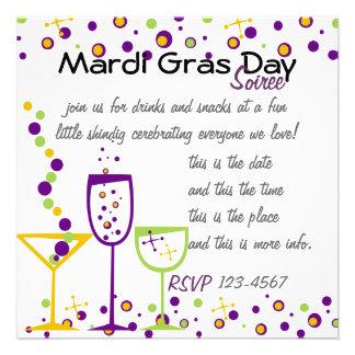 Mardi Gras Cocktails Personalized Invitations