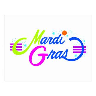 Mardi Gras Color Postcard