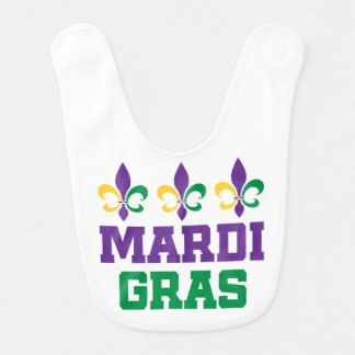 MARDI GRAS Colorful Holiday Baby Bib