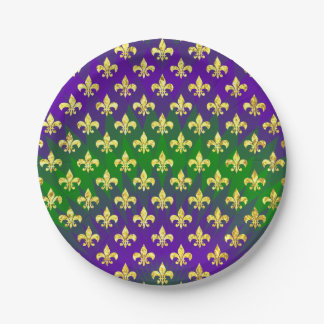 Mardi Gras Colorful Paper Plate