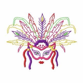 Mardi Gras Costume Embroidered Shirt