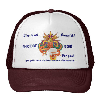 Mardi Gras Crawfish English View Hints please Trucker Hat