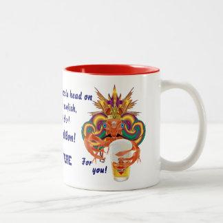 Mardi Gras Crawfish English View Hints please Two-Tone Coffee Mug