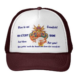 Mardi Gras Crawfish French View Hints please Trucker Hat
