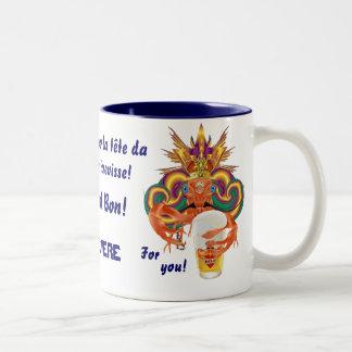 Mardi Gras Crawfish French View Hints please Two-Tone Coffee Mug
