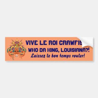 Mardi Gras Crawfish  Who Da King please view notes Bumper Stickers