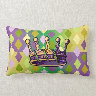 Mardi Gras Crown apparel and gifts Lumbar Pillow