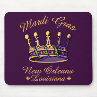 Mardi Gras Crown apparel and gifts Mouse Pad