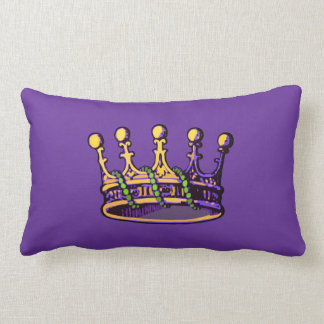 Mardi Gras Crown apparel and gifts Throw Pillow