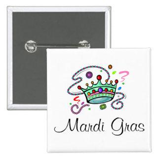 Mardi Gras Crown Pinback Button