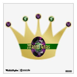 Mardi Gras Crown Wall Sticker