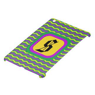 Mardi Gras - Customizable Chevron Print iPad Mini Cases