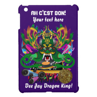 Mardi Gras D. J. Dragon King Important view hints iPad Mini Cover
