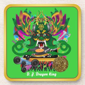 Mardi Gras D. J. Dragon King View Hints please Beverage Coasters