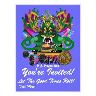 Mardi Gras D. J. Dragon King View Hints please Personalized Invites