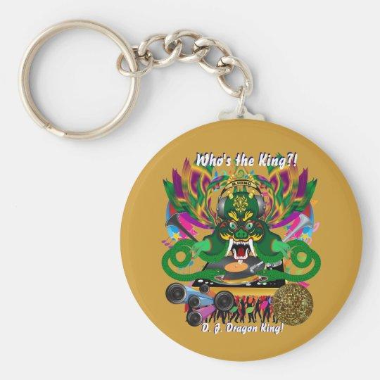 Mardi Gras D. J. Dragon King View Hints please Keychain